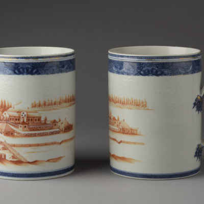 Pair of oversize mugs, full view