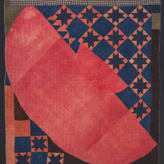 Quilt , possibly made by Myranda Codner Patterson (1808–1881). Possibly Ohio, early 1800s. Wool. Museum purchase with funds provided by the Henry Francis du Pont Collectors Circle 2016.17