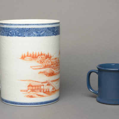 Scale image with normal-size mug