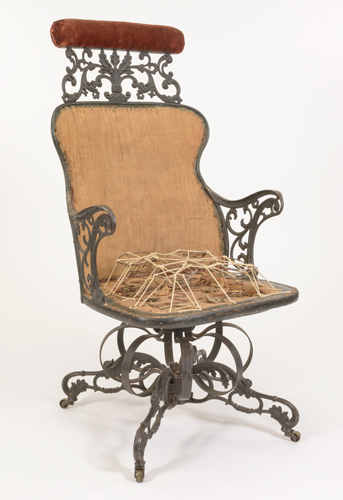 The Centripetal Chair by the American Chair Company (Troy, New York), ca. 1850. Made of iron, steel, maple. Museum purchase with funds provided by the Henry Francis du Pont Collectors Circle 2015.18